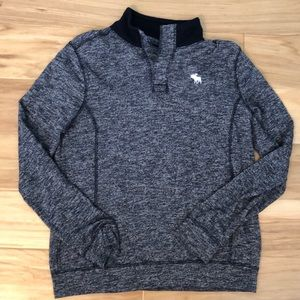 Abercrombie 1/4 button long sleeve
